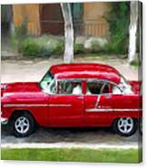 Red Bel Air Canvas Print