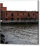 Old Brooklyn Pier Warehouse Canvas Print