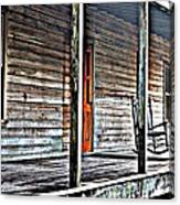 Old Country Front Porch Canvas Print