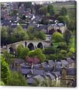 Old Stirling Bridge And Houses As Visible From Stirling Castle Canvas Print