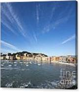 Old Village Sestri Levante Canvas Print