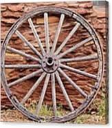 Old Wagon Wheel 2 Canvas Print