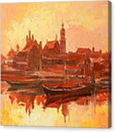 Old Warsaw - Wisla River Canvas Print