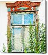 Old Wooden Window Canvas Print