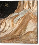 Orange Spring Mound At Mammoth Hot Springs Canvas Print