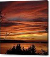 Outer Banks Sunset Over Bay And Colington Island Canvas Print