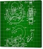 Padlock Patent 1935 - Green Canvas Print