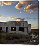 Painted Desert Trading Post At Sunset Canvas Print