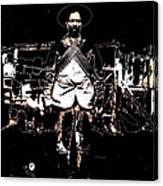 Pancho Villa With Cross Thatched Bandolier Rebel Camp No Locale Or Date-2013 Canvas Print
