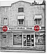 Papa's Poboy Shop Canvas Print