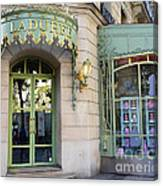Paris Laduree Macaron French Bakery Patisserie Tea Shop - Champs Elysees - The Laduree Patisserie Canvas Print