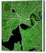 Perth Street Map - Perth Australia Road Map Art On Colored Backg Canvas Print