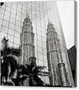 Petronas Towers Reflection Canvas Print