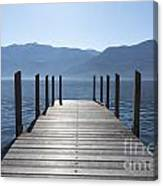 Pier On An Alpine Lake Canvas Print