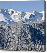 Pikes Peak Snow Canvas Print