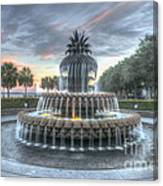 Majestic Sunset In Waterfront Park Canvas Print
