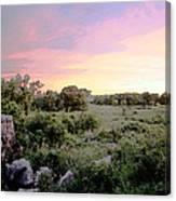 Pipestone Monument Sunset Canvas Print