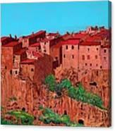 Pitigliano Village Canvas Print