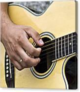 Playing Guitar Canvas Print