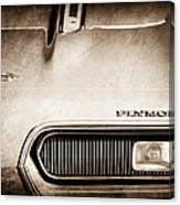 Plymouth Barracuda Grille Emblem Canvas Print