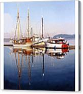 Port Orchard Marina Reflections Canvas Print