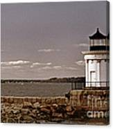 Portland Breakwater Lighthouse Canvas Print