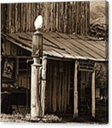 Post Office-gas Station Ghost Town Wagoner Arizona 1968 Canvas Print