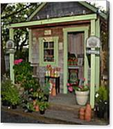 Potting Shed Canvas Print