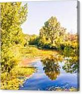 Quiet River In The Park Canvas Print