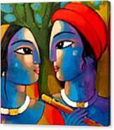 Radha Krishna Canvas Print