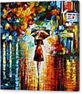 Rain Princess - Palette Knife Landscape Oil Painting On Canvas By Leonid Afremov Canvas Print