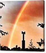 Rainbow Over The City Canvas Print