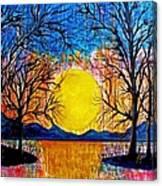 Raining Sunset Canvas Print