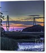 Charleston Bridge Low Tide Canvas Print