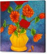 Red And Orange Flowers Canvas Print