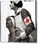 Red Cross Poster, 1917 Canvas Print