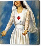 Red Cross Poster, 1918 Canvas Print