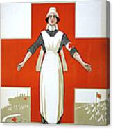Red Cross Poster, C1917 Canvas Print
