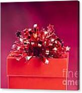 Red Gift Box Canvas Print