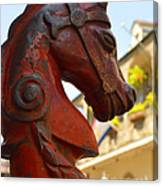 Red Horse Head Post Canvas Print