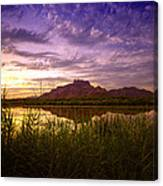Red Mountain Reflections  Canvas Print