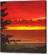 Red Pacific Canvas Print