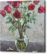 Red Roses 2 Canvas Print