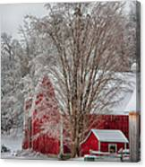 Red Vermont Barn Canvas Print