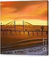 Redondo Beach Pier At Sunset Canvas Print
