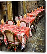 Restaurant Patio In France Canvas Print