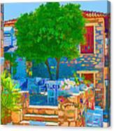 Colourful Restaurant Canvas Print