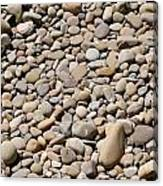 River Rocks Pebbles Canvas Print