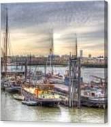 River Thames Boat Community Canvas Print
