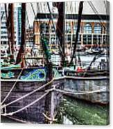 River Thames Sailing Barges. Canvas Print